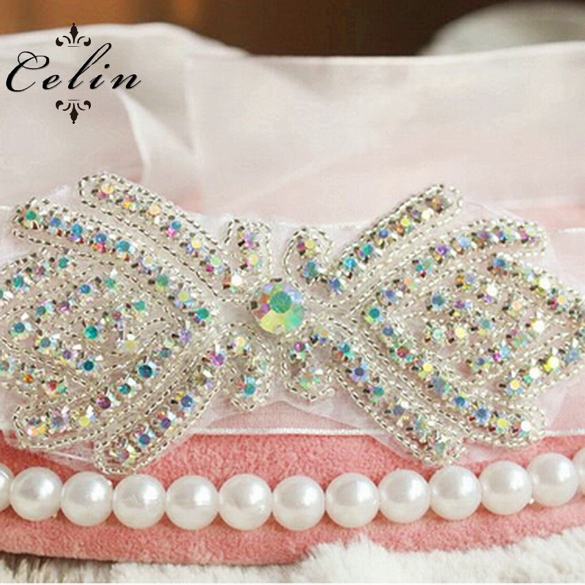 wholesale bridal rhinestone bead sash in guangzhou wholesale