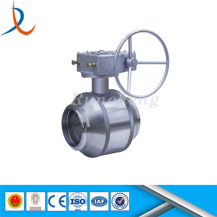 Stainless steel fully welded ball valve float design for hot water steam