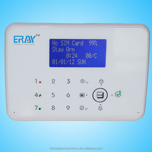 Two way intercom and alarm reply GSM PSTN SIM telephone line security alarm system