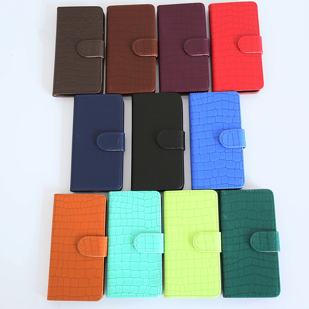 Wholesale Removable Magnetic Crocodile Leather Wallet Case For ZTE BLADE V8