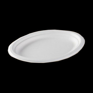 Disposable Biodegradable Sugarcane Bagasse Tableware (Oval plate) B-GZW026