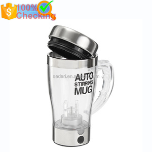 350ml electric plastic coffee cup self stirring cup travel coffee mug, Self Stirring Mug Automatic Lazy Coffee Mug Cup