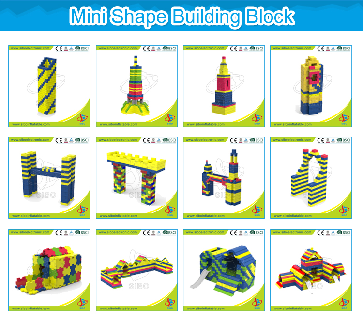 Sibo Non-toxic EPP Foam Building Blocks Set Toys Soft Playground