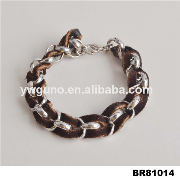 Artificial jeweller ymetal parts for leather bracelet