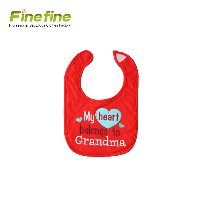 Fancy Excellent Quality Baby Body Baby Bib With Emb.