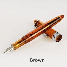 Прозрачная авторучка Iraurita, металлические ручки 0,5 мм, тонкие канцелярские принадлежности для офиса, школьные принадлежности, penna stilografica 6618(Китай)