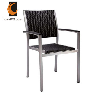 Light Weight Outdoor Aluminium Stainless Steel Patio Chair French Bistro Rattan Chairs