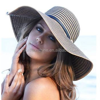 Fashion Women Girl Floppy Hat Wide Large Brim Summer Beach Straw Sun Hat  Factory a2d6e3d873af