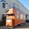 New Zealand Australia Prefab steel mobile home trailer caravans tiny house on wheels