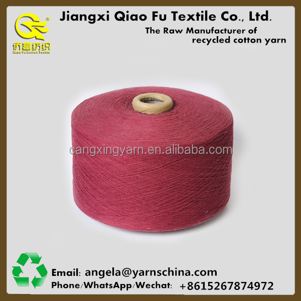 Ne 5s China cotton polyester yarn importer 60/40 regenerated yarn carpet yarn