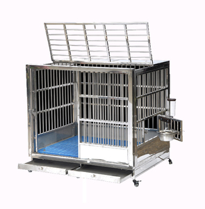 Heavy Duty Strong Stainless Steel Dog Cage with Wheels