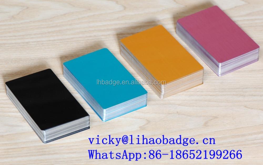 Aluminum Business Card Blank, Aluminum Business Card Blank Suppliers ...