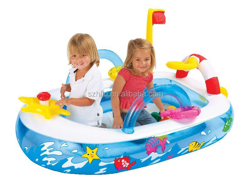 colorful cartoon baby inflatable boat for fun