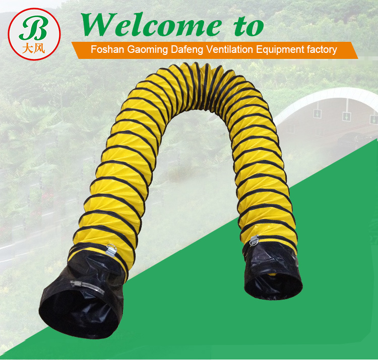 Industrial Pvc Spiral Ventilation Duct Hose With Clamp