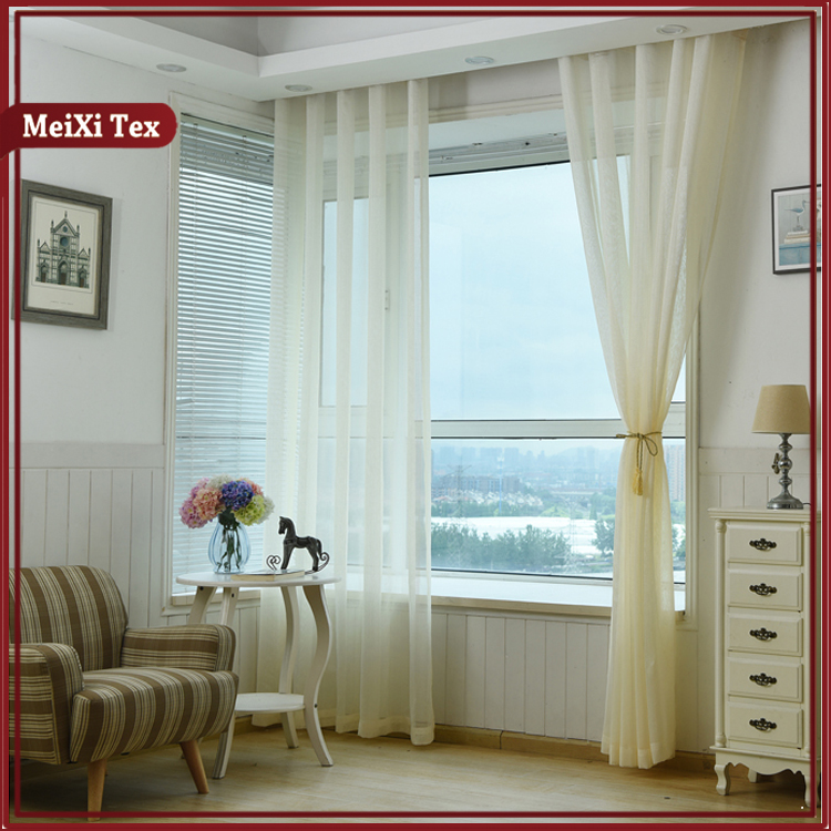 Pakistan patchwork design style stripe sheer window curtains