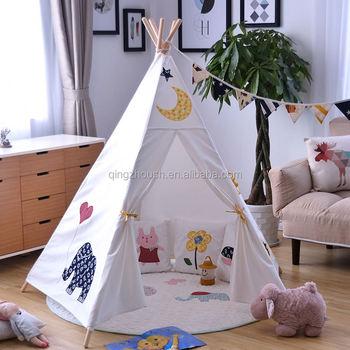 child indoor tent. Kids TeepeeQingzhou Manufacturer Chevron Play Toy indoor tent outdoor  camping children cotton Indian kids Wood frame Teepeeqingzhou Indoor Tent