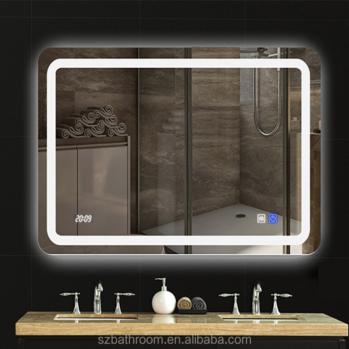 Touch Screen Bathroom Mirror With Led Light On Product Alibaba
