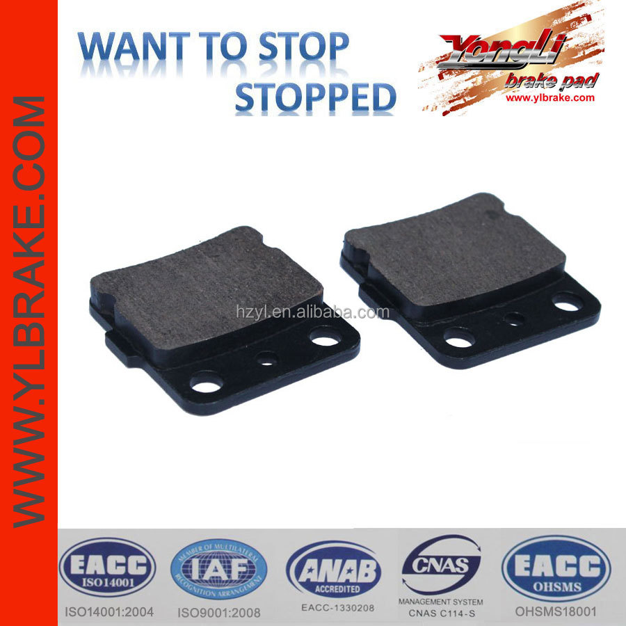 ATV brake pad for YAMAHA YFM 400 FWP Big Bear 4x4;brake pad for yamaha grizzly YFM 600 HM;rear brake pad for kawasaki kx85