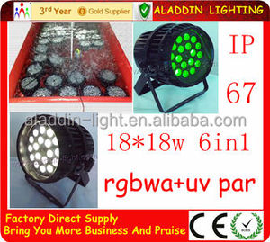 led par 64 18x18w outdoor 18*18w rgbwa+uv 6in1 led par outdoor zoom light