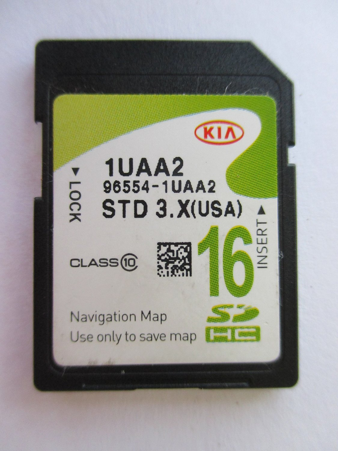 1UAA2 2012 2013 2014 2015 KIA SORENTO Navigation MAP Sd Card ,GPS, U.S.A OEM PART # 96554-1UAA2 16GB STD 3.X