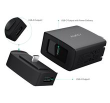Aukey PA-Y7 USB C AMP PD Duo Wall Charger USB Type C PD Wall Charger With Power Delivery for iPhone 8/X/8 plus and Macbook