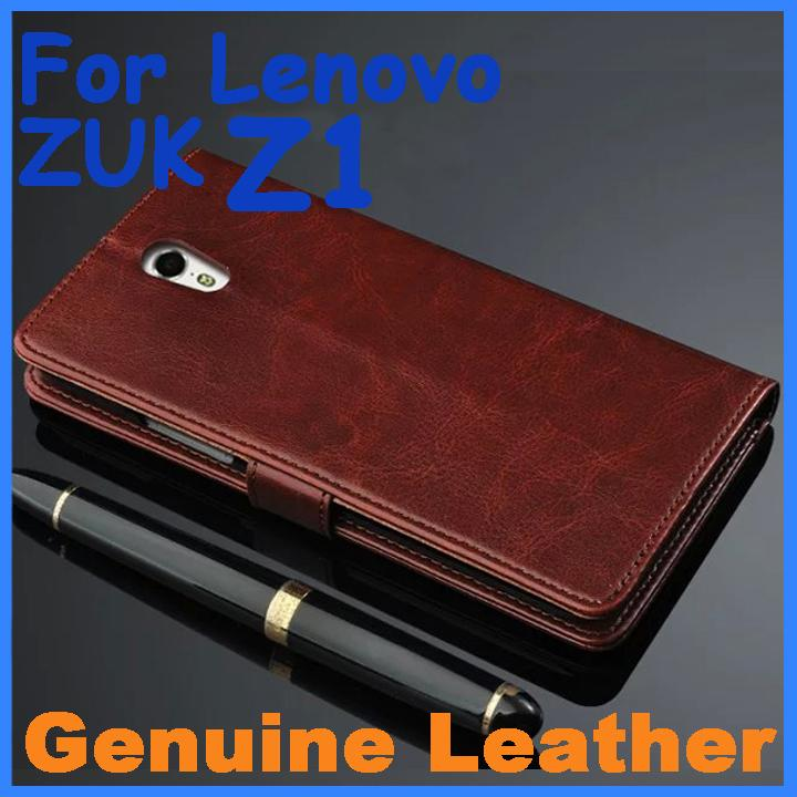 official photos 371b9 bbc2f Genuine Leather Case High Quality Lenovo ZUK Z1 Leather Case Flip Cover for  ZUK Z1 Case Business Wallet Style Cover In Stock