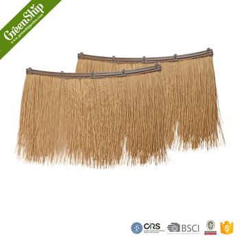 Outdoor Synthetic Thatch Roof Top Tent From GreenShip/man Made Grass  Tile/weather
