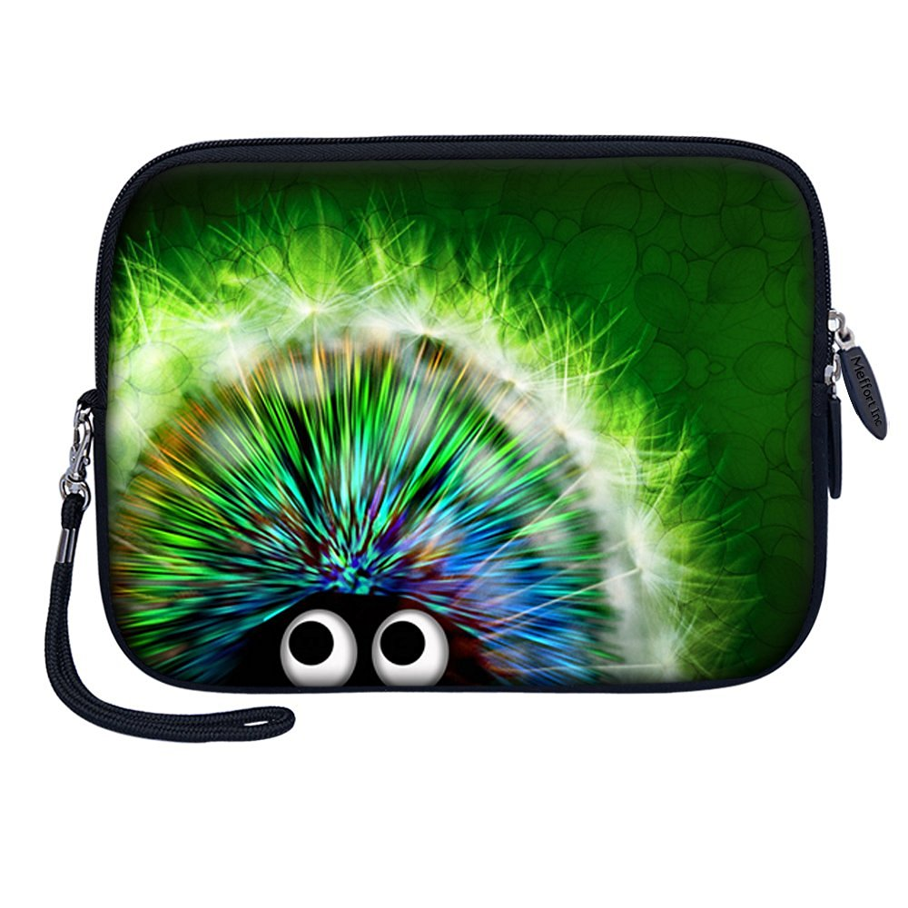 "Meffort Inc 7 inch Tablet Carrying Case Sleeve Bag w Removable Handle for most 6"" 7"" 8"" Tablet eBook - Cute Porcupine A"