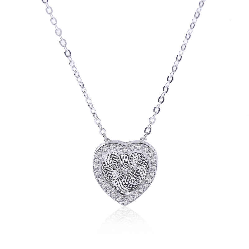 925 Sterling silver necklace for women and girls with 18k gold plated