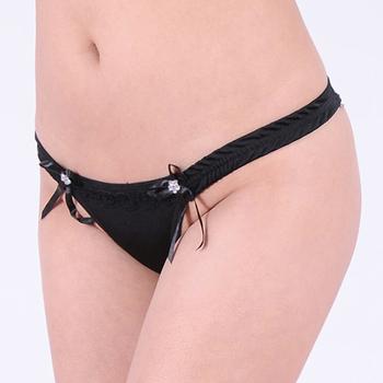 Yun Meng Ni Ladies Sexy Bikini Underwear Bow And Satin Sex Hot Girl Teen Women Panty