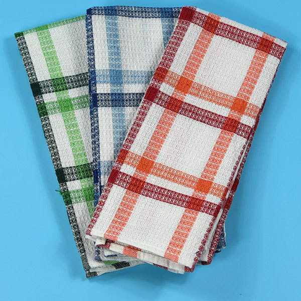 Whole Cotton White Waffle Weave Kitchen Towel For Dish