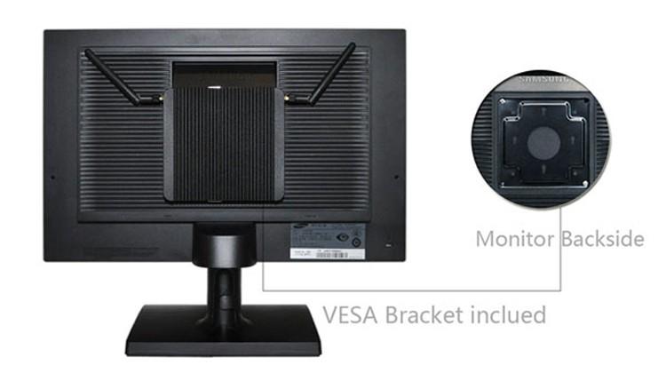 ミニ PC x86 12 ボルト低消費電力インテル Baytrail J1900 CPU 4 Lan 4 USB クアッドコア産業用ファンレス Pc pfSense ファイアウォールルータ