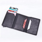 One-Stop Service [ Leather Wallet ] Rfid Card Holder New Zipper Leather Coin Pocket Wallet Magnet Card Holder With Automatic Pop Up RFID Blocking