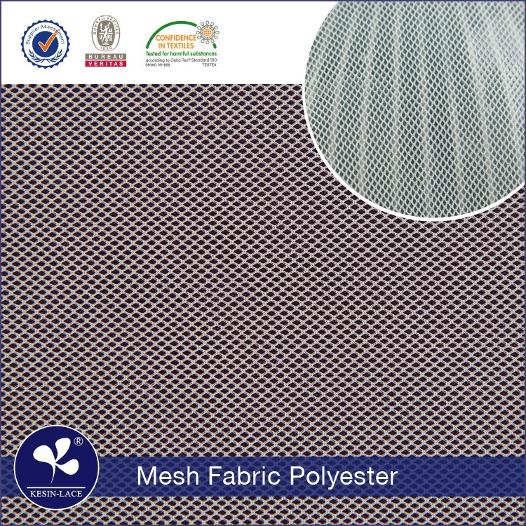 Kesin 2017 hot sell high quality polyester bridal mesh poly dress net fabric wholesale