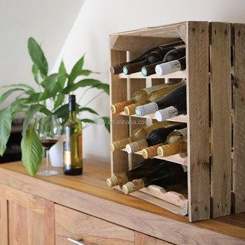 2016 Handgemaakte Houten Apple Krat Wijnrek 16 Fles Capaciteit Hout Krat Buy Maken Houten Wijnrekhouten Wijnfles Krattenhouten Kratten Product On