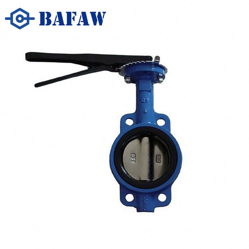 Strict quality requirements cast iron butterfly valve green color 250psi 304 316