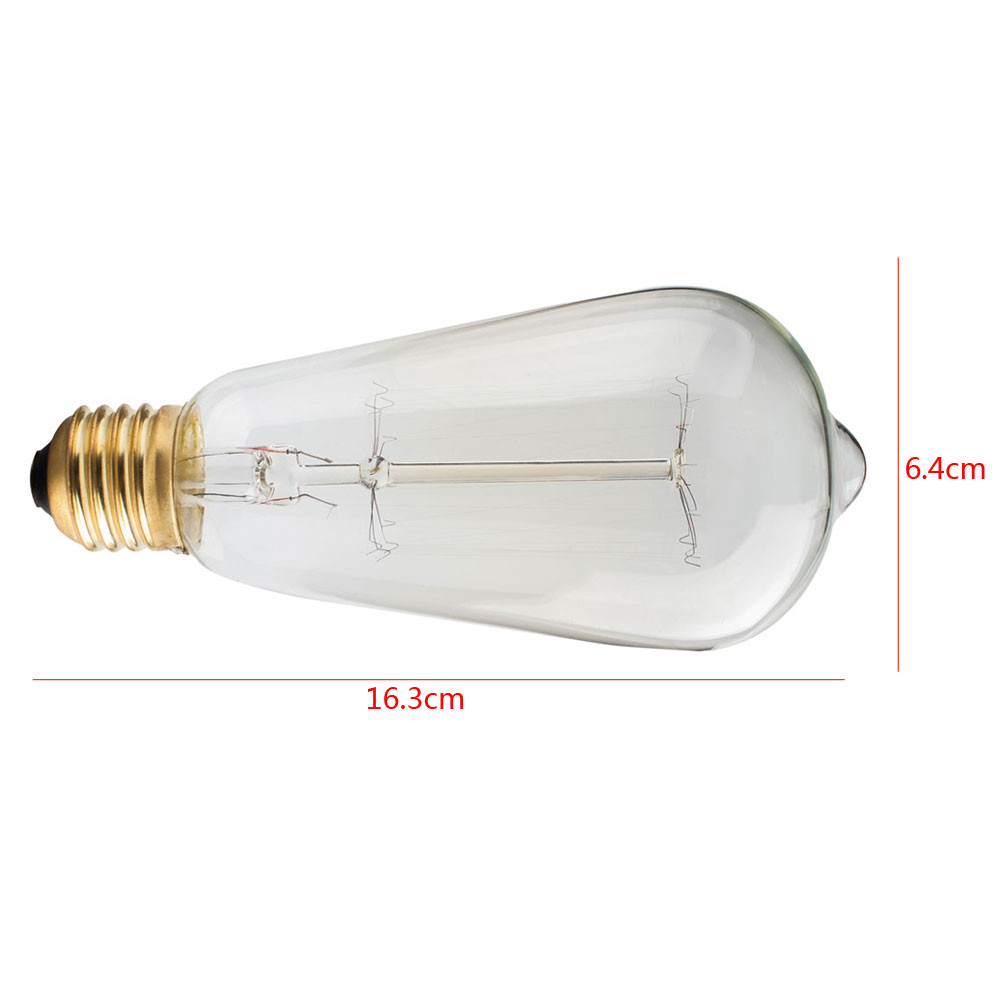 ST58 13Anka 120V 40W Warm White Light Retro Edison LED Light Bulb E27