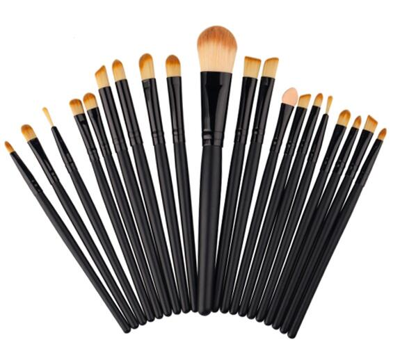 Custom Logo Makeup Tools 20PCS Black Brushes Set Makeup