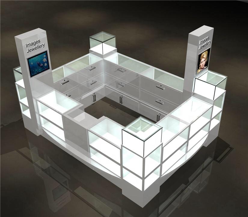 Fashion modern retail display kiosk mall jewelry