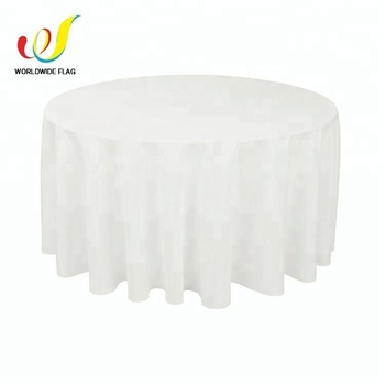 Wholesale Trade Show 108 120 Inch Round White Tablecloth, Round Table Cloth  Wedding