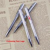 Mini Metal Ballpoint Pen Rotating Pocket-size Portable Ball Point Pen Small Oil Pen Exquisite Brief