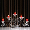 Wholesale home goods 5 holders tea light crystal candle holder glass wedding table decorations candelabra centerpieces