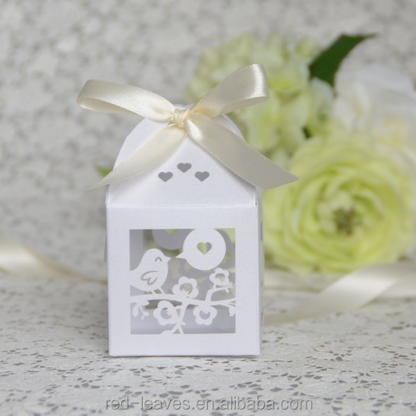 wholesale paper cutting bird cage wedding favor box in china elegant wedding door gift box for wedding