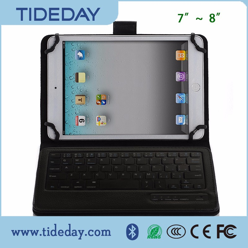 cheap wireless bluetooth keyboard for Smartphone android desktop computer tablet pc with Holster 7-8 inch