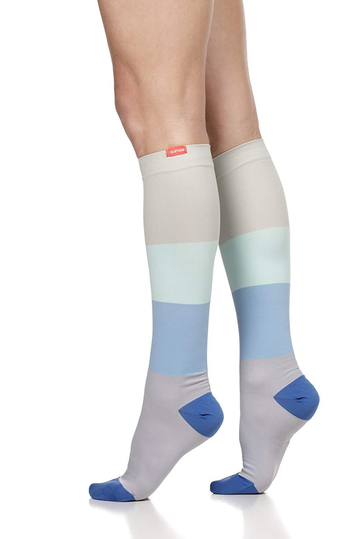 b28c4620f0 Get Quotations · VIM & VIGR Women's 20-30 mmHg Compression Socks: Color  Block - Sea Glass