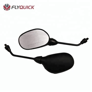 ZF001-82 FLYQUICK China Black Replacement Motorcycle Rear View Mirror Plastic Motorbike Mirror for TVS VICTOR