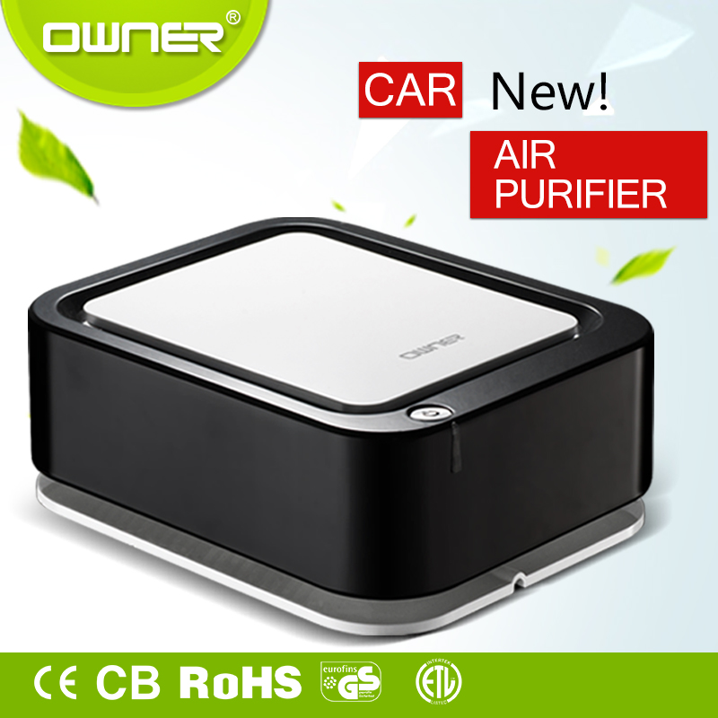 Smart car air purifier with usb