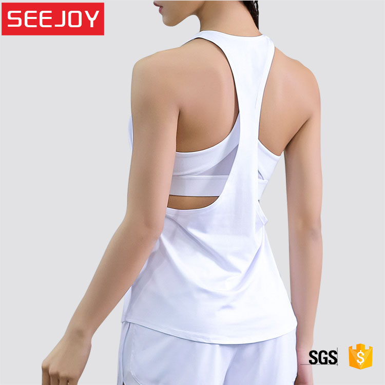 OEM vrouwen gym sport workout yoga fitness vrouwen t terug tank top