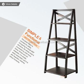 plegadora estanterias de madera apenado estanteras casos soporte de pared decoracin para el hogar escalera