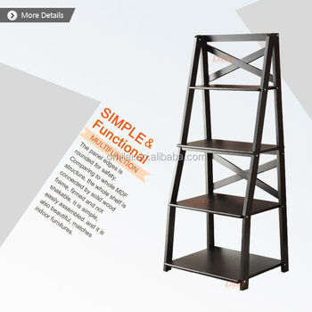 wood folding shelves distressed bookshelves cases wall stand home decor ladder - Distressed Bookshelves